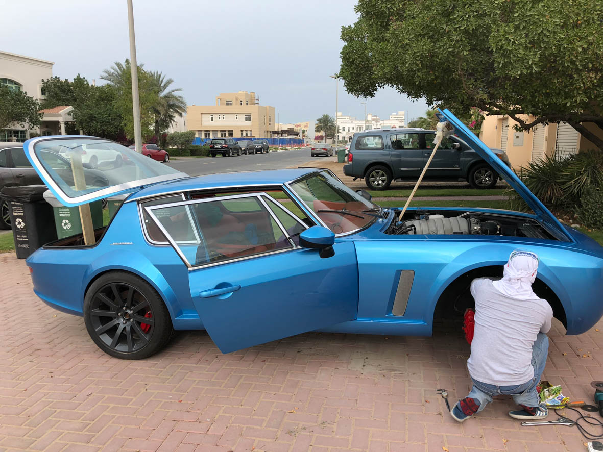Progress on the Jensen SRT8 – Retro Rides Dubai
